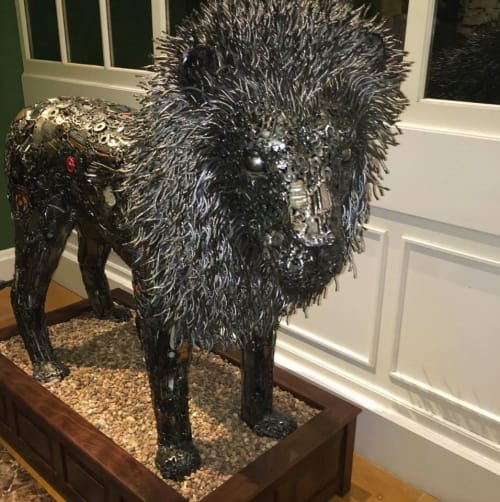 Sculptures by Brian Mock seen at Kimpton Hotel Monaco Washington DC, Washington - Reclaimed Royalty Sculpture