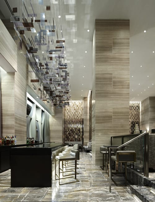 Sculptures by Studio Sawada Design seen at Park Hyatt New York, New York - 3D Lattice