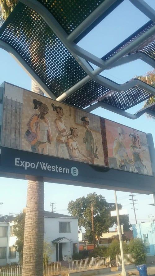 Public Mosaics by Ronald J. Llanos seen at Expo/Western Lightrail Station, Los Angeles., Los Angeles - Ephemeral Views