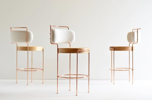 Chairs by Gustavo Bittencourt seen at Private Residence - Laiá Bar Stool