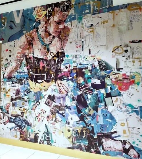 Murals by Derek Gores seen at Loews Miami Beach Hotel, Miami Beach - Reimagined