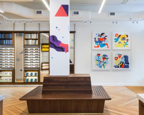 Warby Parker Columbus, Stores, Interior Design