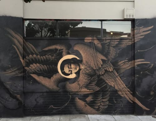 Street Murals by Lango Oliveira seen at Howard St and Mary St, San Francisco - Angel-Wall Mural