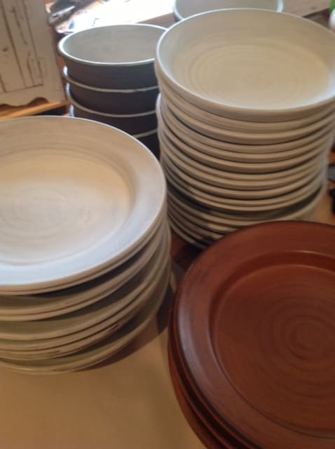 Ceramic Plates by Akiko's Pottery seen at Aster, San Francisco - Custom Earthenware Dishes