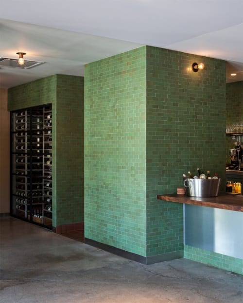 Tiles by Heath Ceramics seen at Farmshop (Marin), Larkspur - Tiles