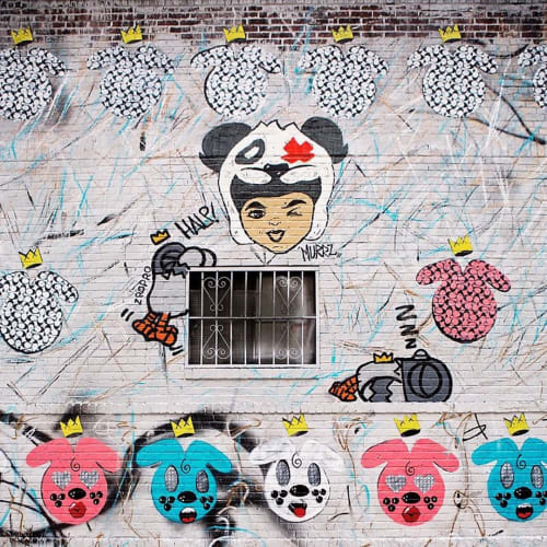 Street Murals by The DRiF seen at 356 Broome St, New York - Mural