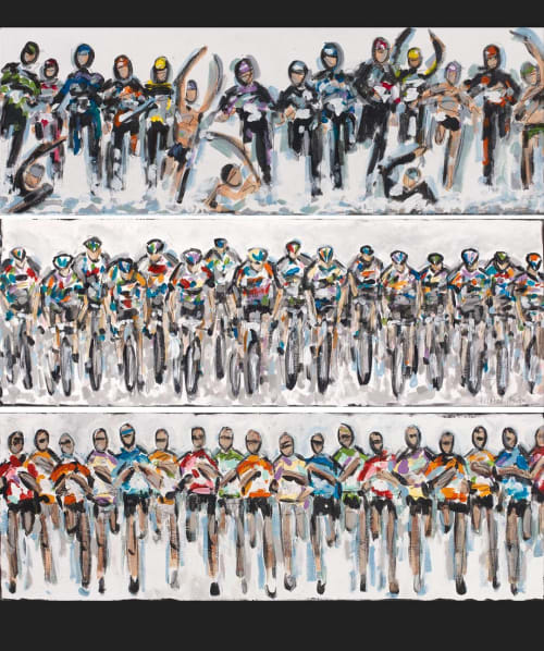 Paintings by Heather Blanton Fine Art seen at Private Residence, St. Augustine - Triathlon Triptych