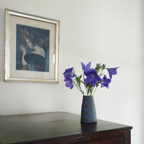 Vases & Vessels by Hollow Work by Kate Hardy at Private Residence, Washington, DC - Dark Clay Pattern Ware Vase