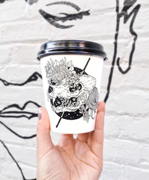 Cups by Loe Lee seen at WeWork, Brooklyn - Coffee Cups Art