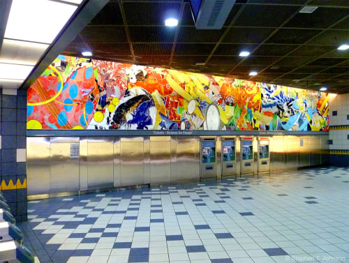 Public Mosaics by Stephen T. Johnson seen at Universal City/Studio City, Los Angeles - Universal Delights