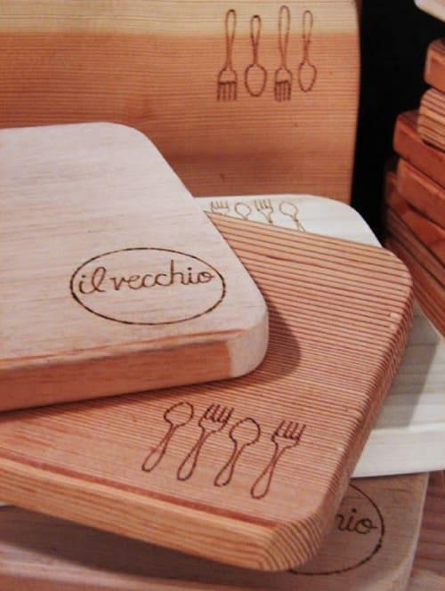 Tableware by Ariele Alasko seen at Il Vecchio, Pacific Grove - Boards