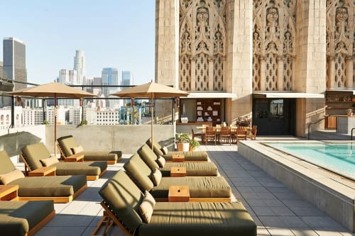 Furniture by Alma Allen at Ace Hotel LA, Los Angeles - Custom Made Lounge Furniture