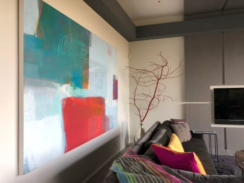 Work by Sharon Paster at Private Residence, Los Gatos - Abstract Painting