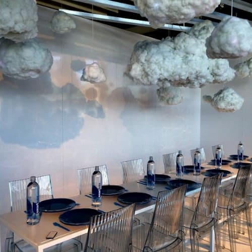 Pendants by Richard Clarkson Studio seen at Piers 92/94, New York - Cloud pendants