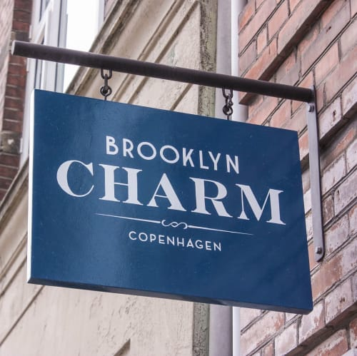 Signage by Veronika Skilte seen at Brooklyn Charm Copenhagen, København - Signage