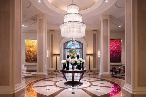 Paintings by Jason Young seen at Beverly Wilshire Hotel, Beverly Hills - Beverly Wilshire Installations