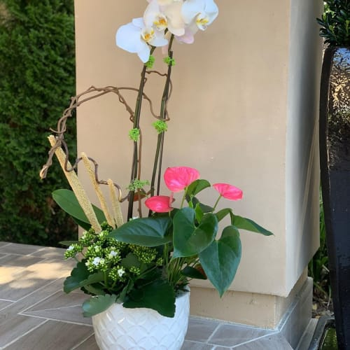 Floral Arrangements by Fleurina Designs seen at Private Residence, Los Gatos - Spring Flower Arrangements