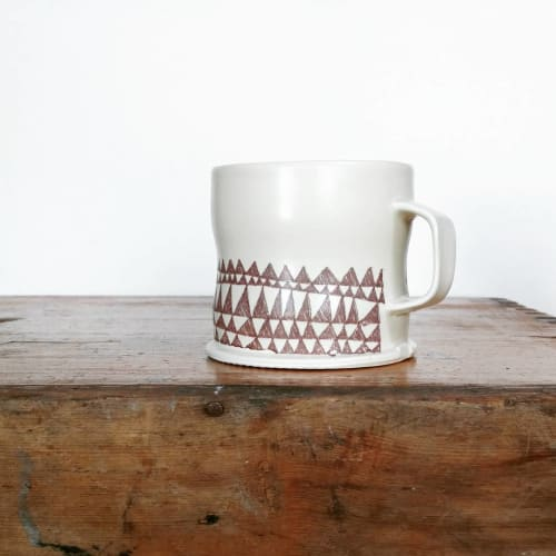 Cups by Hollow Work by Kate Hardy at Private Residence - Triangle Doodle Mug