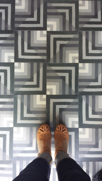 Tiles by Kismet Tile seen at Hotel Covell, Los Angeles - Kismet Spaziale