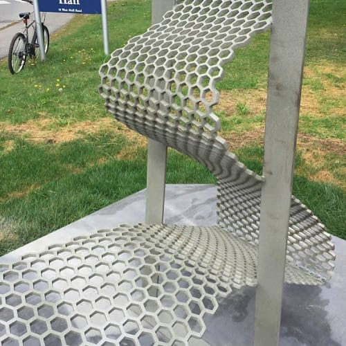 Chairs by Vivian Beer Studio Works seen at University of Maine Orono, Orono - Matter Wave Bench
