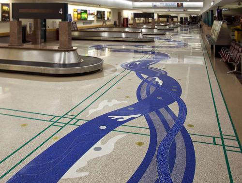 Tiles by Mitsu Overstreet seen at El Paso International Airport, El Paso - River Spirit