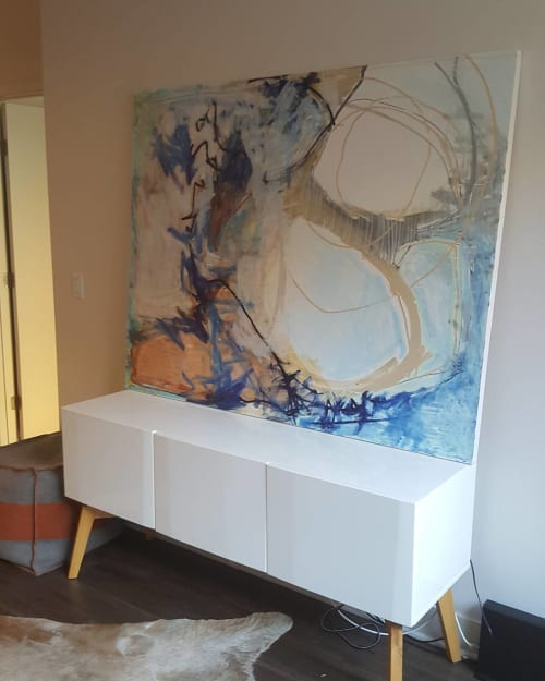 Paintings by Jason McGee seen at Private Residence, Charlotte - Pools, Rivers, Oceans And Air