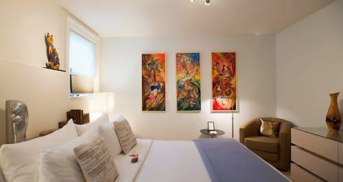 Paintings by Elena Kotliarker seen at The Chanric Inn, Calistoga - King Room
