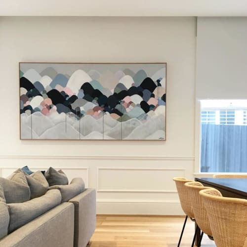 Paintings by Jessie Rigby seen at Private Residence, Glen Iris - Silentus Montem