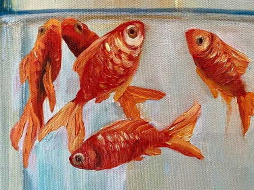 Paintings by Leanne Hamilton seen at Private Residence, San Jose - Goldfish In A Jar