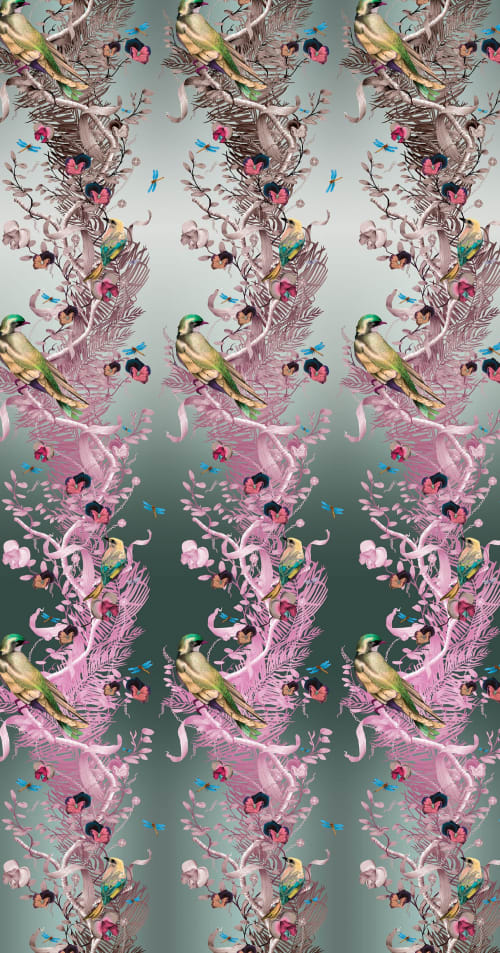 Wallpaper by Kit Miles seen at London, London - The Birds in Chains