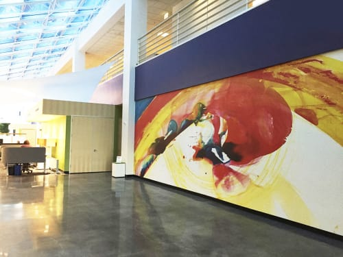 Murals by Patter Hellstrom Visual Art at Becton Dickinson, San Jose - Accelerate