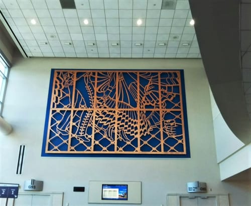 Paintings by Carmen Lomas Garza seen at San Francisco International Airport, San Francisco - Baile