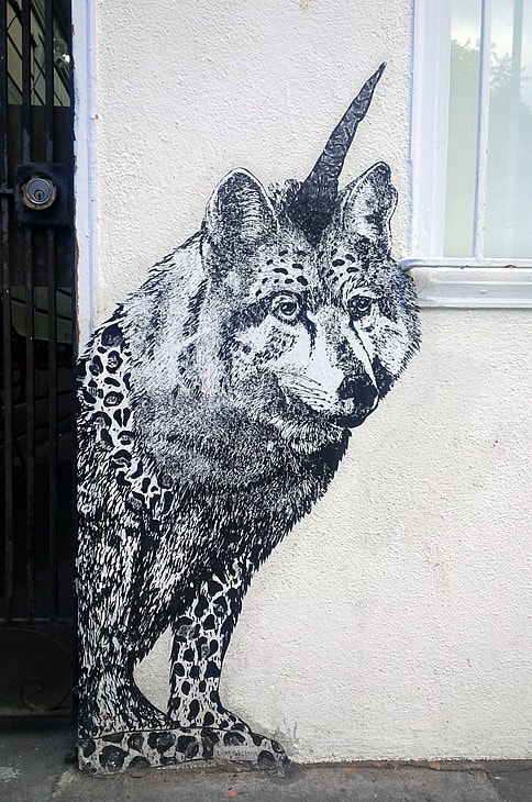 Street Murals by Diana García seen at 20th Street, San Francisco - Be What You Dream Animal Murals - Wolf