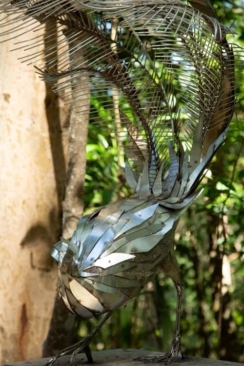 Sculptures by Georgie Seccull seen at Mistere Spa and Retreat, Urliup - The Gatekeepers