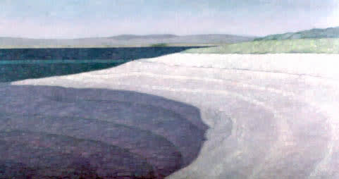 Paintings by Connie Smith Siegel at San Francisco International Airport, San Francisco - Beach at Tomales Bay