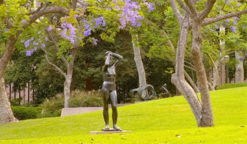 Sculptures by Gerhard Marcks seen at Franklin D. Murphy Sculpture Garden, Los Angeles - Maja