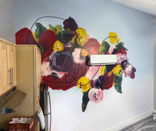 Murals by Elisa Gomez Art seen at Private Residence, Austin - Austin East Side Mural (Velvet Love Series)