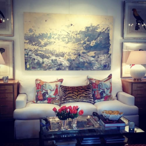 Paintings by Caroline Wright at Page Home Design, Austin - Big Sky