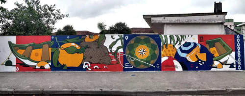 Street Murals by Shesko seen at Guarujá, Guarujá - MEXIRICA
