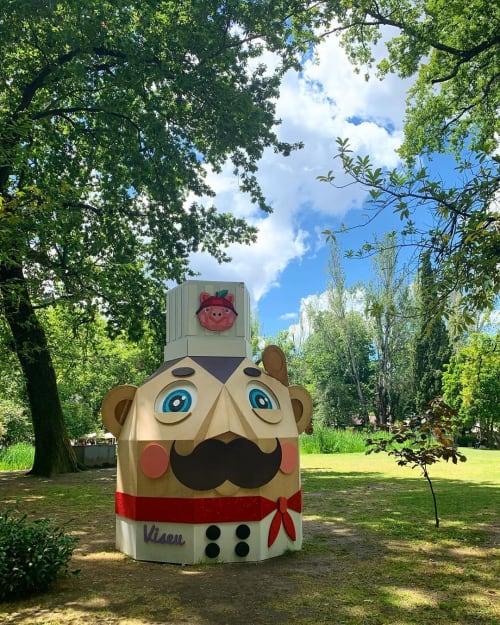 "Public Sculptures by Catarina Glam seen at Aquilino Ribeiro Park, Viseu - ""CHEF"""