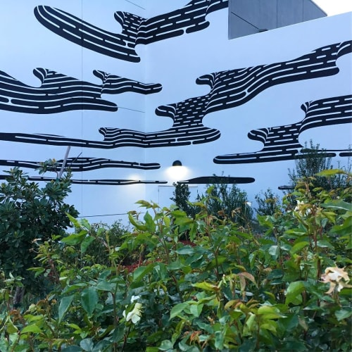 Murals by Brendan Monroe seen at Eastridge Center, San Jose - Floating Blob