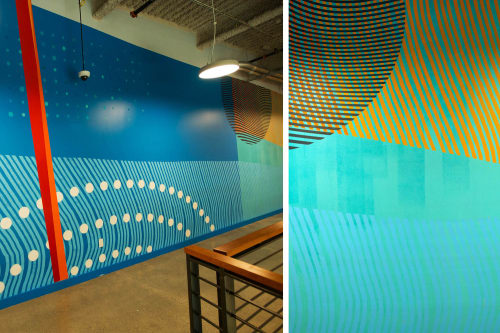 Murals by Erik Otto at LinkedIn Sunnyvale, Sunnyvale - Shifting Landscape