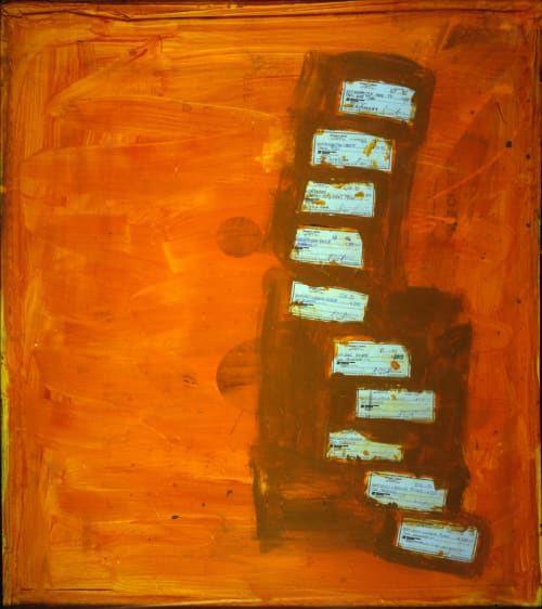 Paintings by Richard Prince seen at Gramercy Park Hotel, New York - Untitled (Check Painting) #4 2004