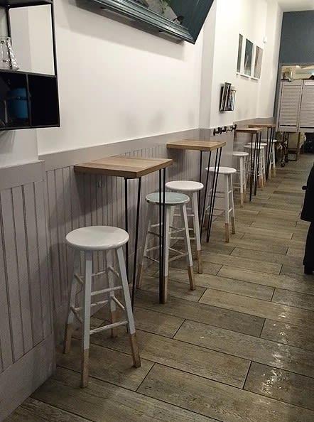 Tables by Mccloskey Carpentry seen at Joe Coffee Company, New York - Side Tables