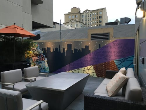 Murals by Strider Patton seen at Courtyard by Marriott San Francisco Union Square, San Francisco - Courtyard Marriott Mural