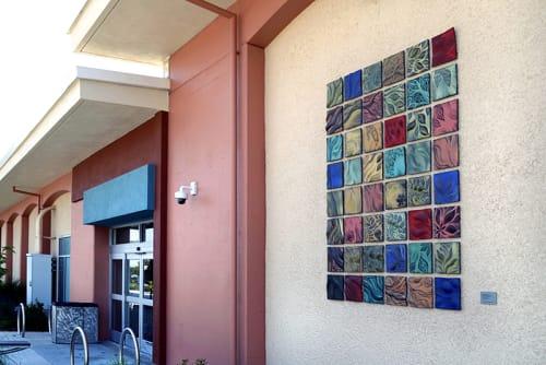 Murals by Natalie Blake Studios seen at Chabot College, Hayward - Fine Arts Court Quilt