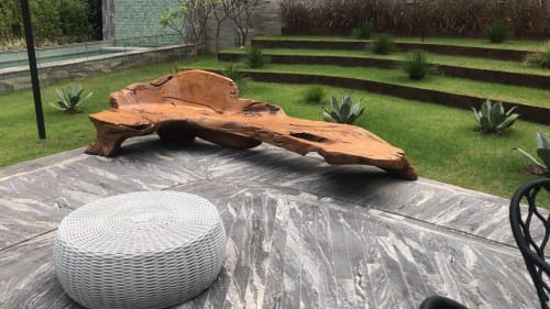 Benches & Ottomans by Atelier Hugo França at Edifício Cyrela by Pininfarina, Itaim Bibi - Bench In Small Vineyard