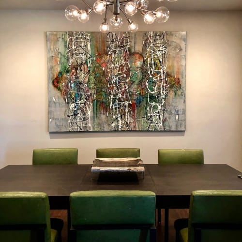 Paintings by Bruce Rubenstein seen at Private Residence, Los Angeles - The Matrix