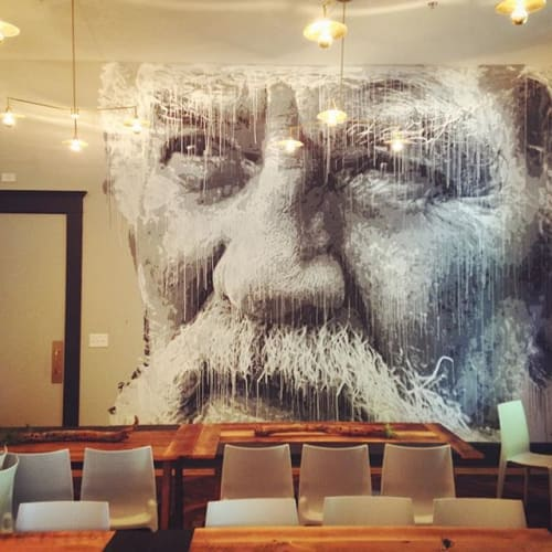 Murals by Nils Westergard seen at Common House, Charlottesville - Mural