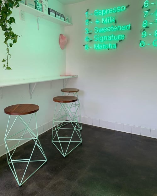 Chairs by Amigo Modern seen at Dayglow, West Hollywood - Classic Octahedron Stools
